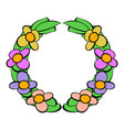 memorial wreath of flowers icon icon cartoon vector image
