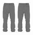mens black jeans vector image