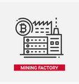 mining factory - line design single isolated icon vector image vector image