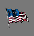 national american flag drawn vector image vector image