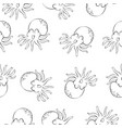 octopus background pattern style vector image vector image