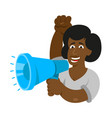 one black young woman power feminist vector image
