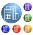 pay device icons set vector image