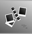 photo frames with shadow on an gradient background vector image vector image