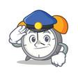 police alarm clock character cartoon vector image vector image
