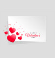 red hearts valentines day frame with text space vector image