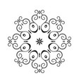 round ornament pattern vector image vector image