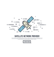 Satelitte line concept vector image