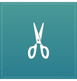 Scissors icon sign and button vector image vector image