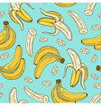 seamless pattern with banana Hand drawn vector image vector image