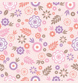 seamless pattern with flowers and leafs ideal for vector image vector image