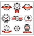 Set emblems hunting wolf eagle deer vector image vector image