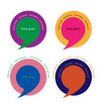 set of retro style speech bubbles vector image