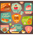 set sweet cakes vector image