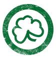 shamrock leaf stamp vector image vector image