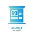 shape design finance icon atm vector image