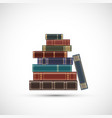 stack old vintage books vector image vector image