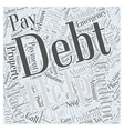 Taking Care of Your Debt Situation Word Cloud vector image vector image