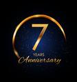 template logo 7 year anniversary vector image