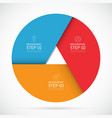 Three steps infographic circle template vector image