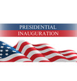 usa presidential inauguration day celebration vector image