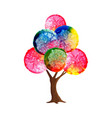 watercolor tree concept for environment care vector image vector image