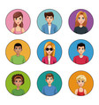 young people cartoon vector image vector image
