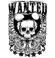 Wanted Skull vector image