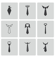 black tie icons set vector image