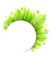 Abstract green leaves banner vector image