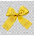 golden ribbon on transparent background vector image
