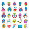 robot technology design futuristic kid flat vector image