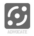 advocate conceptual graphic icon
