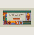africa day web template safari travel flat cartoon