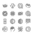 artificial intelligence icon set for vector image