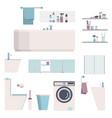 bathroom modern furniture set constructor house vector image vector image