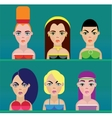 Beautiful women faces vector image vector image
