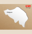 belgium map belgian maps craft paper texture vector image