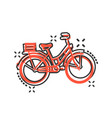 bicycle sign icon in comic style bike cartoon on vector image vector image