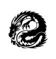 black dragon sign vector image vector image
