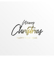 black inscription christmas and magic light vector image vector image