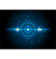 blue light futuristic technology with circuit vector image vector image