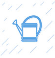 blue line watering can icon isolated on white vector image vector image