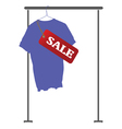 blue shirt on sale vector image