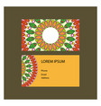 business card with mandala design vector image vector image