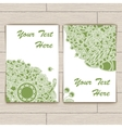 Cards with Green Round Pattern vector image vector image