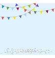 Celebration background with flag bunting vector image vector image