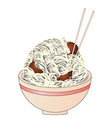 chicken noodle soup vector image