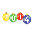christmas balls with 2014 vector image