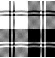 classic plaid black white pixel seamless pattern vector image vector image